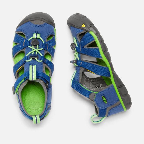 KEEN Seacamp II sandales – zils/zaļš 3