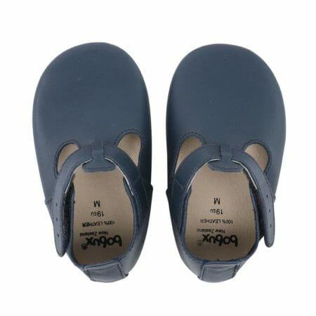 Bobux zilās kurpītes ar T-veida siksniņu