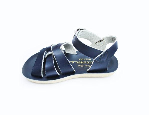 Zilās peldētāju sandales lielākām pēdām 4