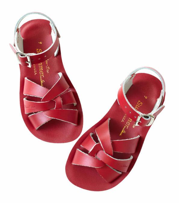 Sarkanās peldētāju sandales