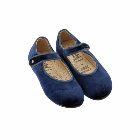 Old Soles samta kurpītes – zilas