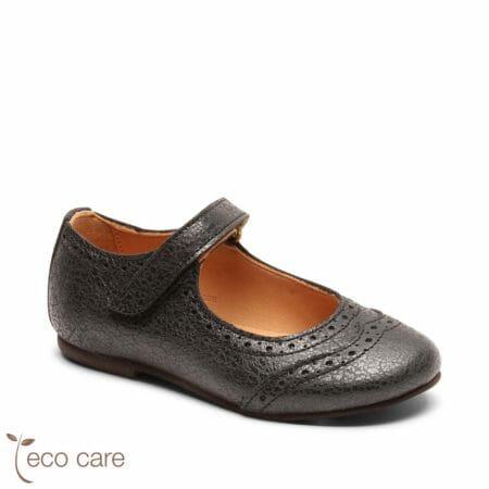 bisgaard ādas kurpītes – spoži melnas