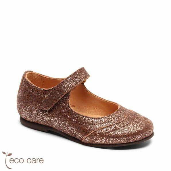 bisgaard ādas kurpītes – spoži brūnas