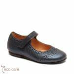 bisgaard ādas kurpītes – tumši zilas 1