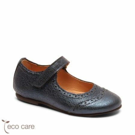 bisgaard ādas kurpītes – tumši zilas