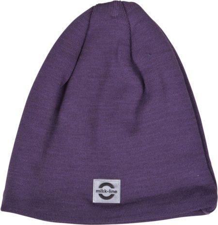 Tumši violeta pusvilnas cepure