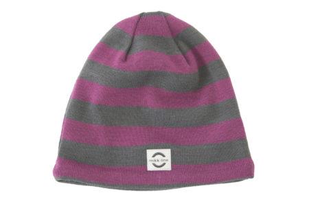 Sārti strīpotā pusvilnas cepure