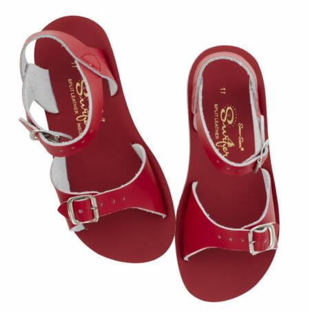 Sērfotāju sarkanās sandales