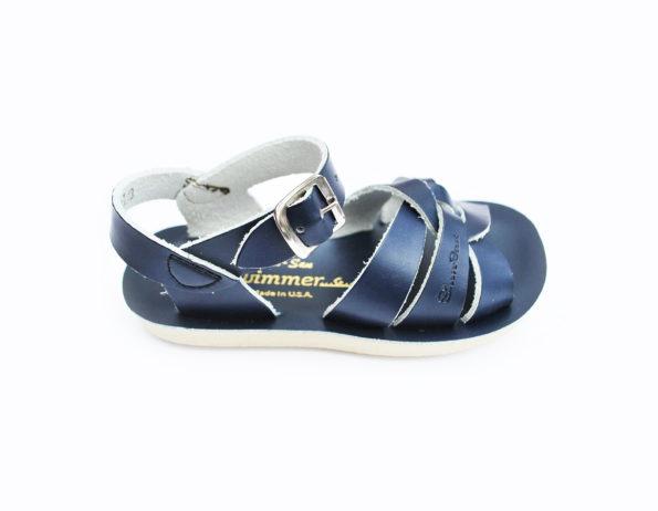 Zilās peldētāju sandales lielākām pēdām 5