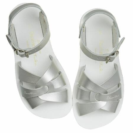 Sudrabotās peldētāju sandales