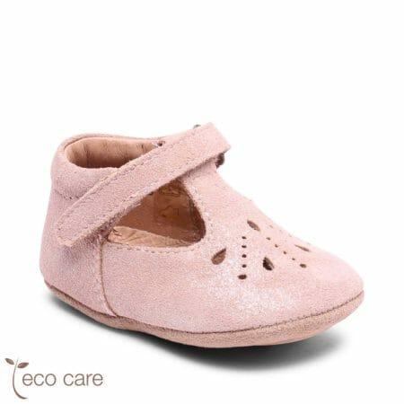 bisgaard ādas kurpītes Bloom-krēmīgas