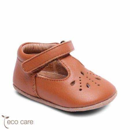 bisgaard ādas kurpītes Bloom-brūnas