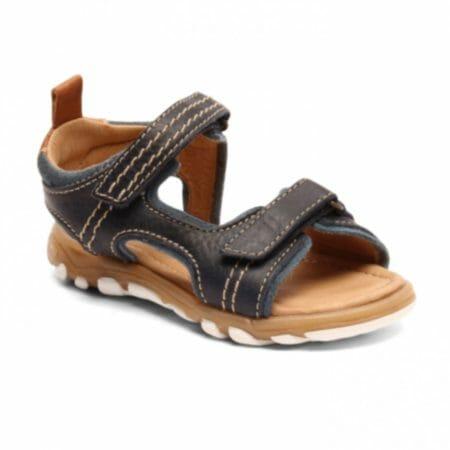 bisgaard zilās ādas sandales
