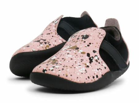 Bobux ādas kurpītes ar krāsiņām-rozā