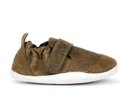 Bobux Marvel ādas kurpītes-olīvu zaļas