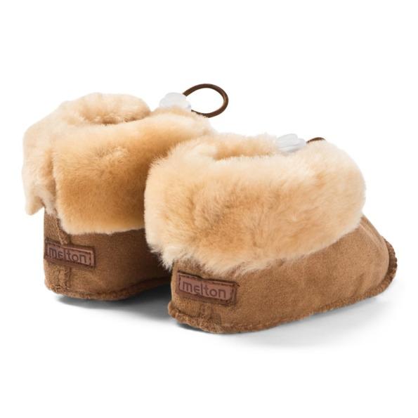 Melton lamb fur shoe Camel 1