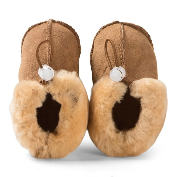 Melton lamb fur shoe Camel 2